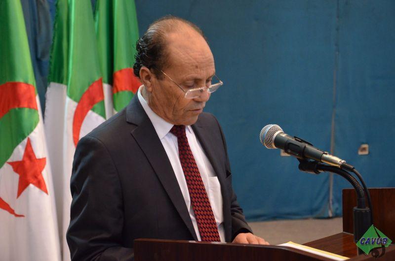كلمة السيد مدير الجامعة بمناسبة الذكرى العشرون لوفاة العقيد المجاهد الحاج لخضر